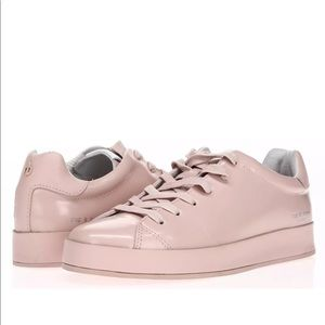 🔥Rag & Bone Pink Womens RB1 Leather Sneakers🔥